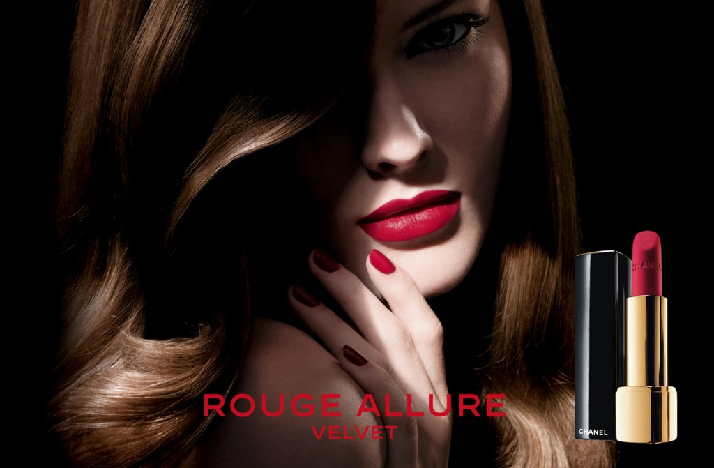 Rouge Allure Velvet, le visuel Chanel