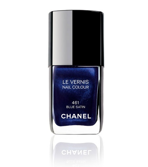 Chanel Blue Satin