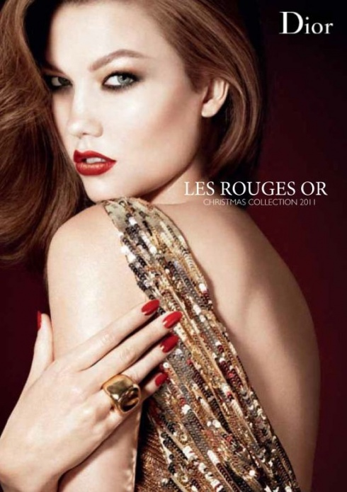Dior les Rouges Or Karlie Kloss Noël 2011