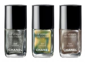 Chanel les trois vernis Illusions d'Ombres